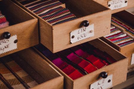 gamme d'échantillons de tissus collection hiver et été