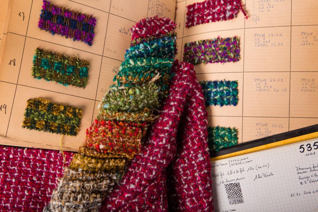 Archive textile Jules Tournier tweeds fantaisies