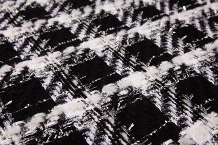 les tweeds fantaisie noir et blanc à carreau
