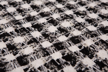 les tweeds fantaisies noir et blanc à carreau