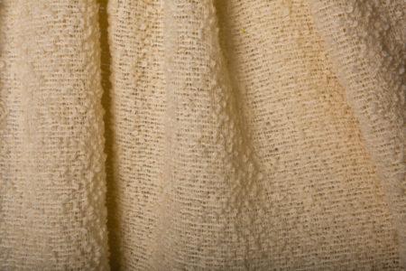 mohair beige uni, pas de gaze