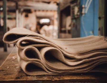 feutre de laine tissé